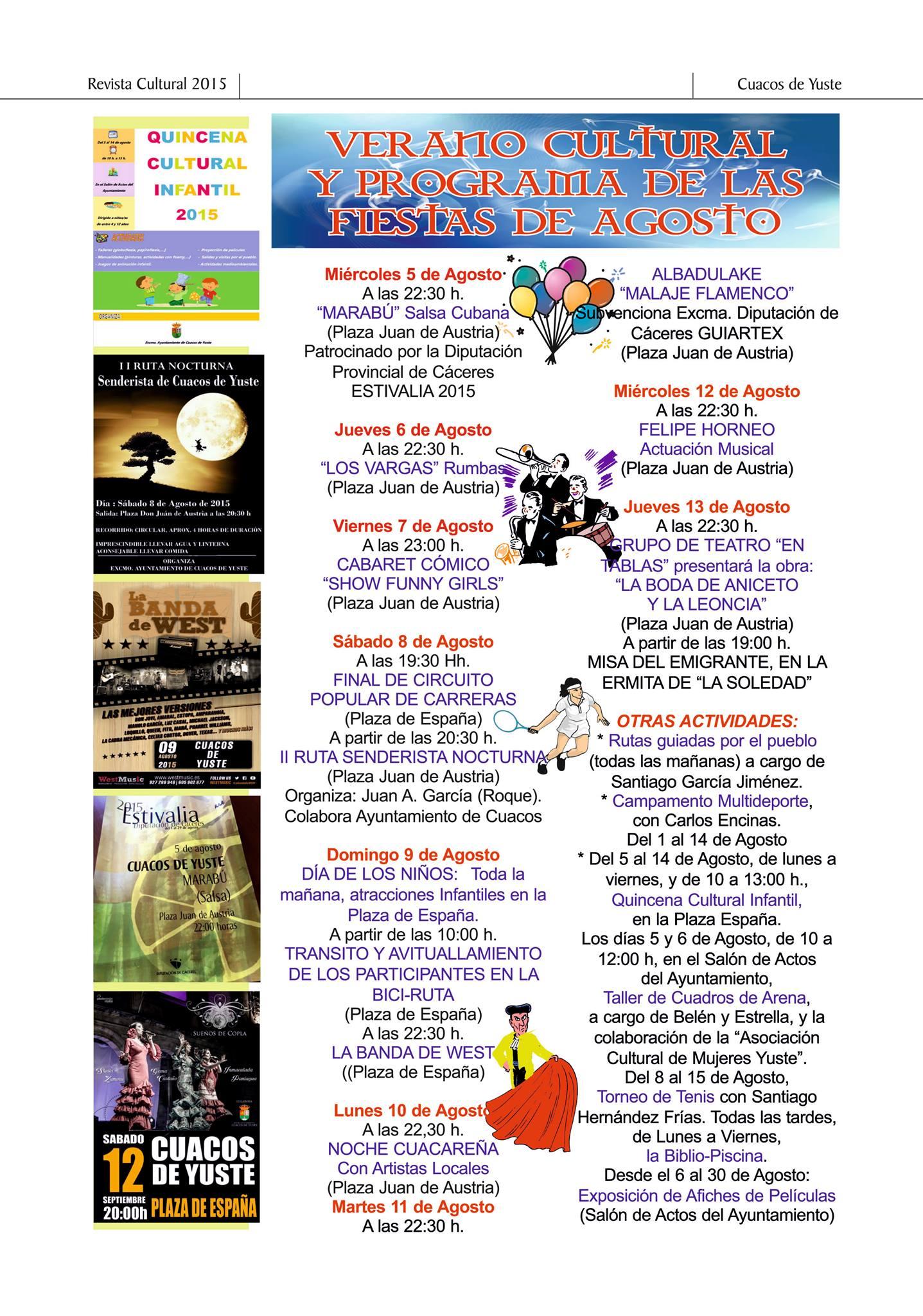 Programa fiestas Cuacos Agosto 2015 1