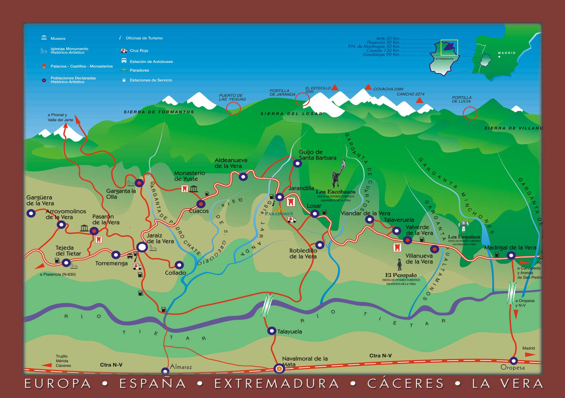 Mapa de la vera caceres my blog for La vera caceres