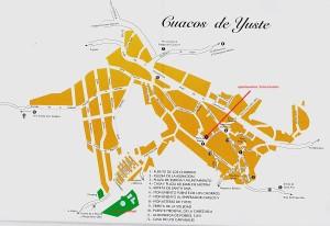 plattegrond Cuacos de Yuste