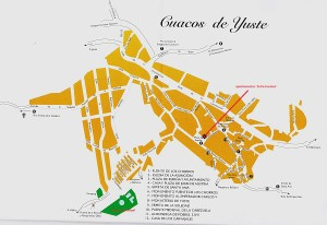 Mapa Cuacos de Yuste