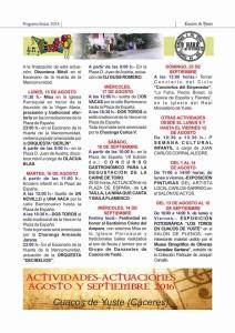programa fiestas toros Cuacos de yuste 216