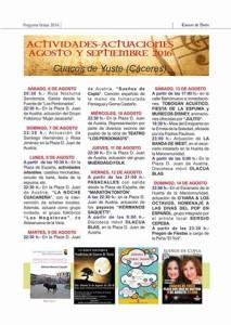 programa fiestas agosto cuacos de yuste 2016
